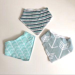 BABY BIBS | Modern Geometric Arrows Teal Blue
